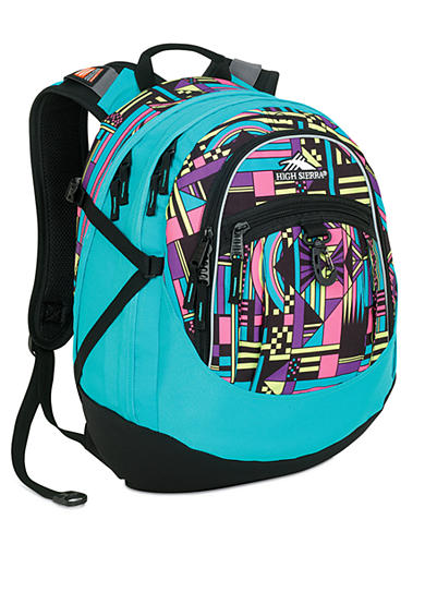 High Sierra Fatboy Backpack - Tropic Teal Block Party