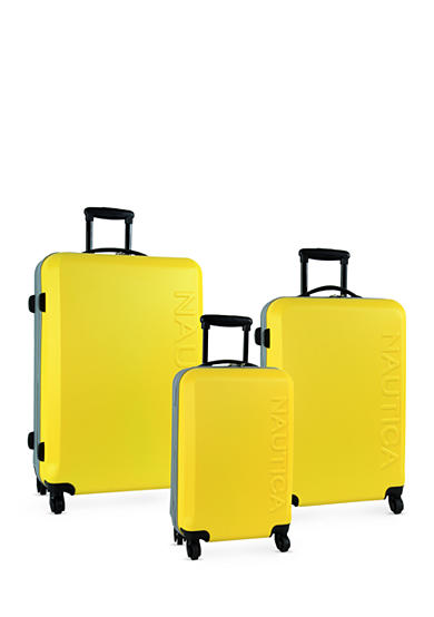 Nautica Ahoy Hardside Spinner Collection - Yellow/Silver
