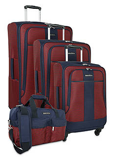 Nautica Nautica Beach Island Luggage Collection - Navy/Red
