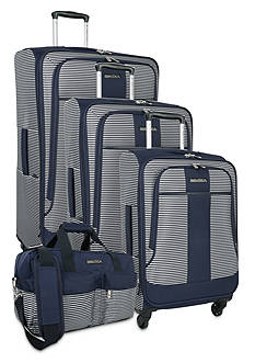 Nautica Beach Island Luggage Collection - Navy/White