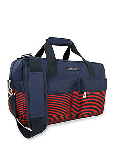 Nautica Beach Island Duffel - Navy/Red