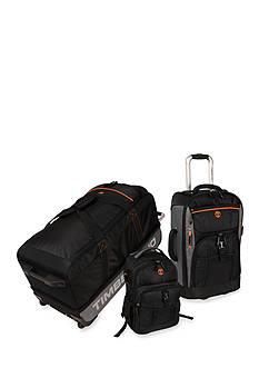 Timberland Hampton Falls 3 Piece Luggage Set - Black