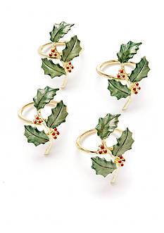 Lenox Holiday Napkin Rings - Set of 4