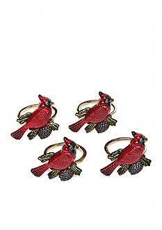 Lenox Cardinal Napkin Rings- Set of 4