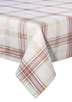 Lenox Holiday Nouveau Plaid 60-in. x 104-in. Oblong Table Cloth