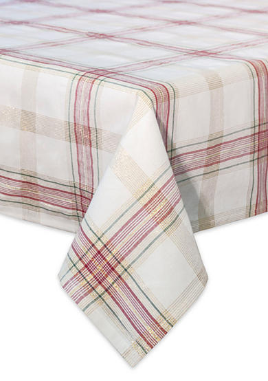 Lenox® Holiday Nouveau Plaid 60-in. x 120-in. Oblong Table Cloth