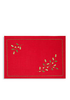 Bardwil Holly Red Placemat and Napkin - Sold Separately