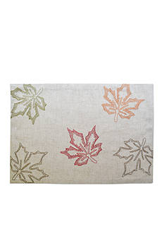 Bardwil Embroidered Leaves Placemat