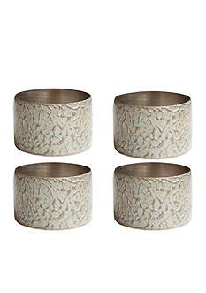 Bardwil Hammered Metal Napkin Rings - 4 Pack