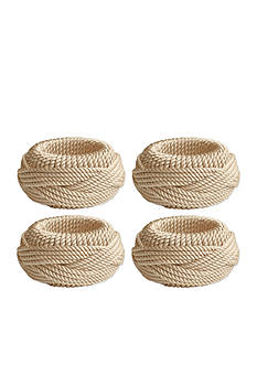 Bardwil Twisted Rope Napkin Rings - 4 Pack