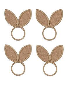 Bardwil Bunny Ears Napkin Rings 4-Pack