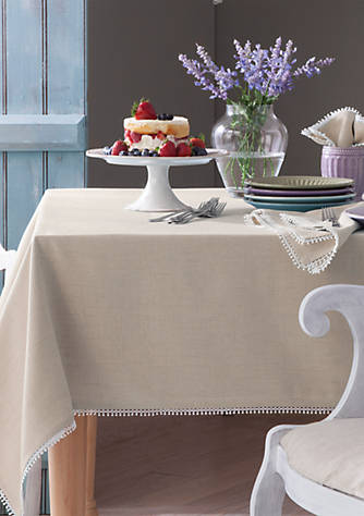 Lenox french perle natural table linens belk for Table 6 lenox