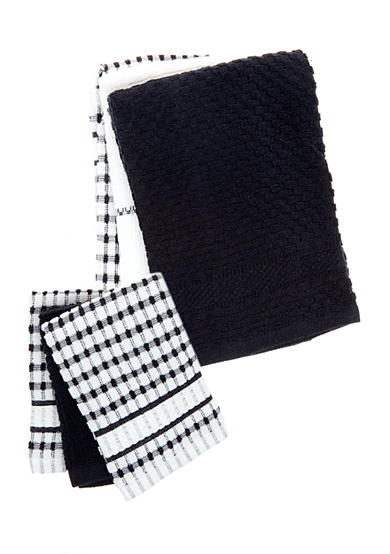 Bardwil 3 Piece Set Terry Kitchen Towels and Dishcloths
