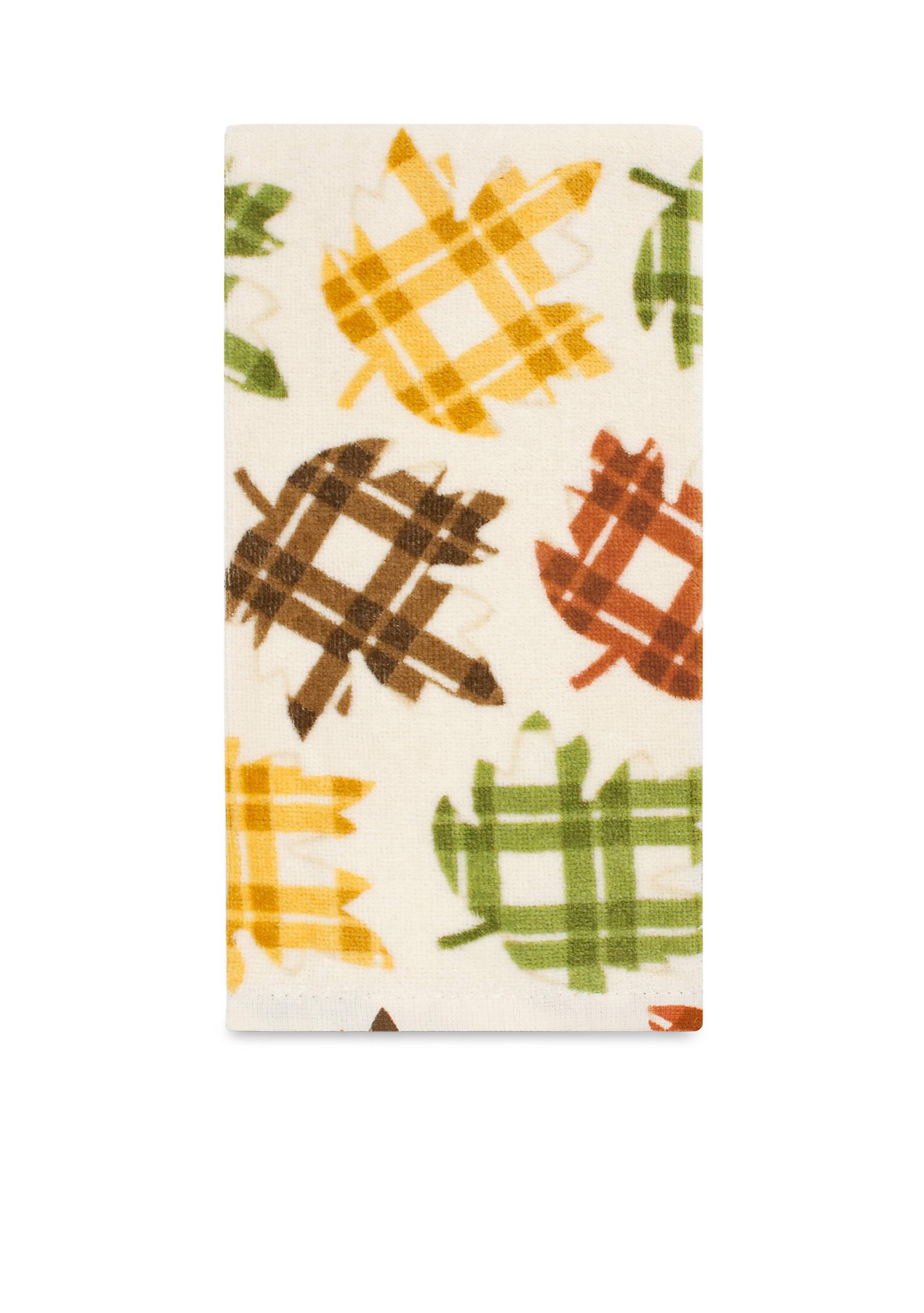 John Ritzenthaler Company® Fiber Reactive Plaid Maple Leaf Kitchen ...