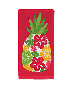 John Ritzenthaler Company Hibiscus Pineapple Kitchen Towel