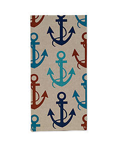 John Ritzenthaler Company Anchors Away Chambray Tea Towel