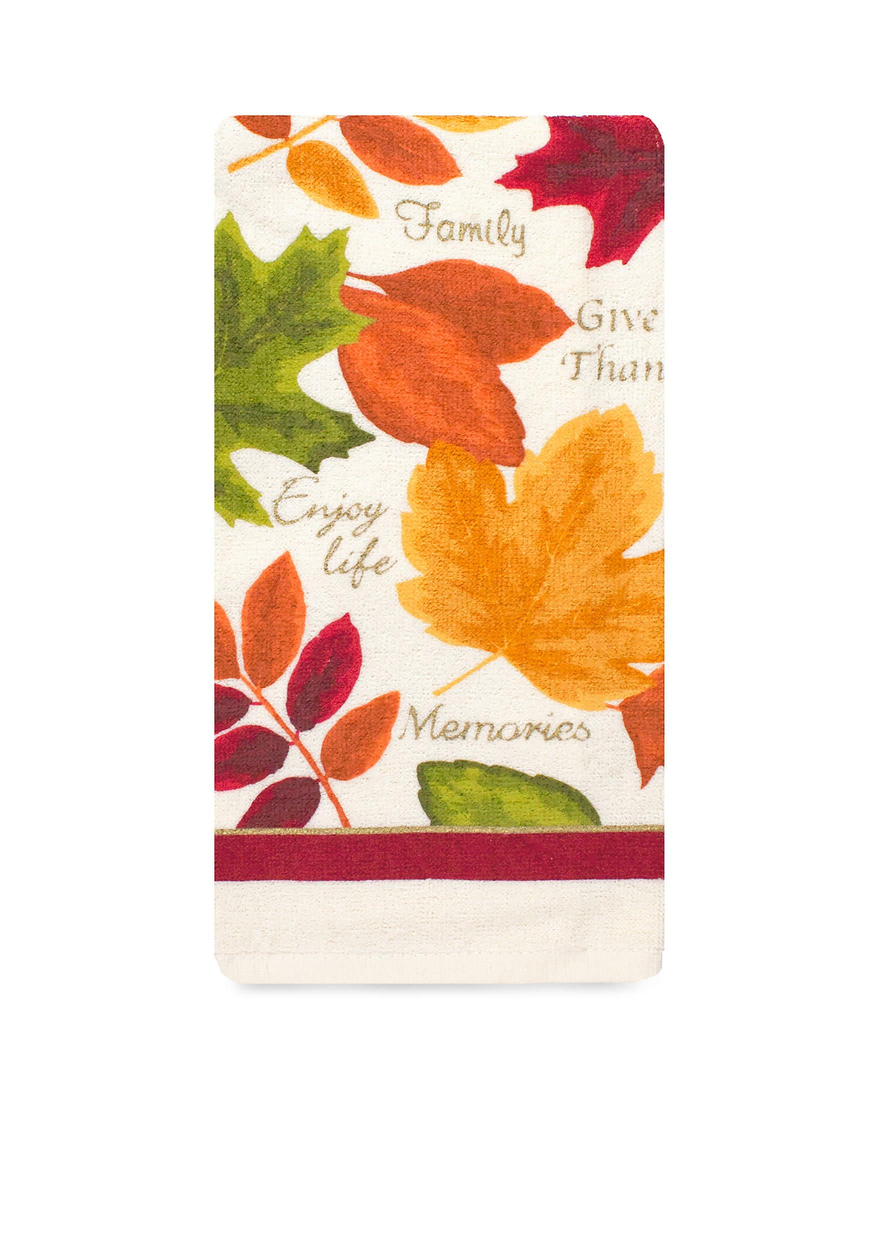 John Ritzenthaler Company® Leaf Print Kitchen Towel | belk