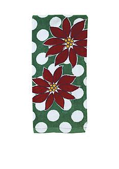 Ritz Poinsettia Dot Fiber Reactive Kitchen Towel