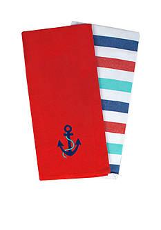 John Ritzenthaler Company Anchor Embroidered Tea Towel Set
