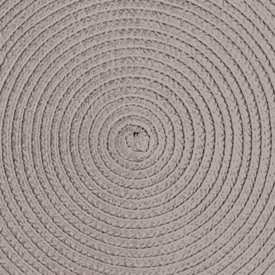 Table Linens and Placemats: Taupe John Ritzenthaler Company Round Woven Placemat Collection