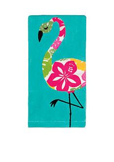 John Ritzenthaler Company Hibiscus Flamingo Kitchen Towel