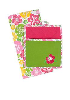 John Ritzenthaler Company Hibiscus Embroidered Tea Towel & Pocket Mitt Set