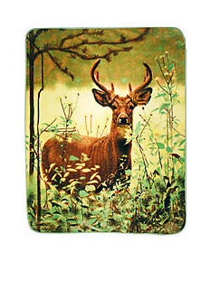 Shavel Hi PIle Luxury Oversized Throw Deer