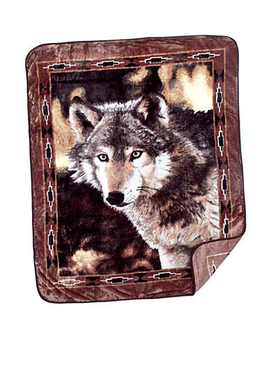 Shavel Gray Wolf Hi-Pile Throw