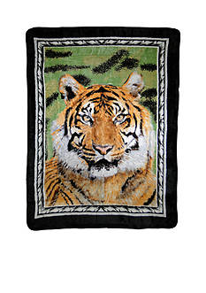Shavel Hi Pile Luxury Oversized Coverlet Tiger