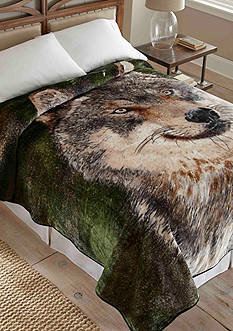 Shavel Hi Pile Luxury Oversized Coverlet Wolf