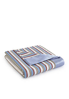 Shavel Micro Flannel Awning Stripe Twin All Seasons Year Round Sheet Blanket