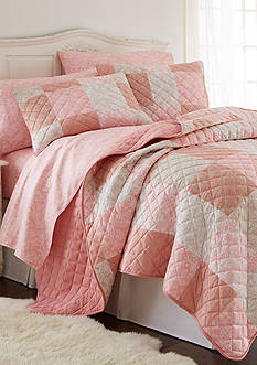 Shavel Micro Flannel Enchantment Patchwork Quilt Set