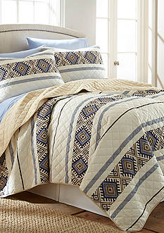 Shavel Micro Flannel Lodge Stripe Quilt Set