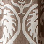 Patterned Curtains: Brown Croscill Bernadette Tailored Window Panel