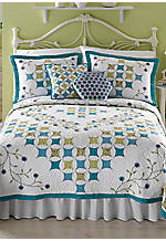 Amanda Multicolored King Quilt 104-in. x 94-in.