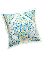 Breeze Decorative Print Pillow with Ruffle 18-in. x 18-in.