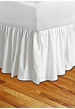 Lilly White King Bedskirt 78-in. x 80-in. + 15-in. Drop