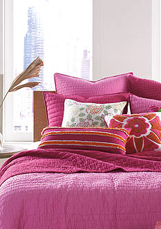 Nostalgia Home Fashions Pickstitch Pink Quilt Collection
