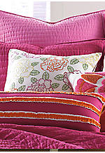 Pickstitch White All Over Floral Embroidery Square Decorative Pillow 20-in. x 20-in.