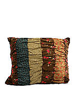 Selina Multicolored Pieced Stripe Oblong Decorative Pillow 12-in. x 16-in.