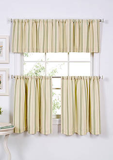Elrene Updated Ticking 60-in. x 15-in. Valance