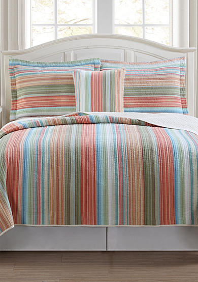 Retro Chic™ Beach Club Stripe Quilt Collection