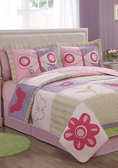 Pem America Casual Butterflies Quilt Set - Online Only