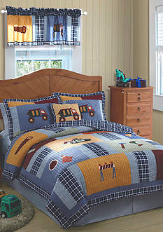 My World® Construction Zone Quilt Set - Online Only