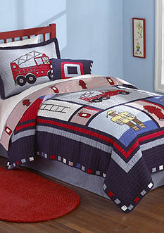 My World® Fireman Quilt Set - Online Only