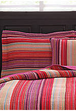 Flower Petal Stripe Multicolored Standard Sham 20-in. x 26-in.