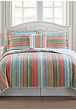 Beach Club Stripe Multicolored Decorative Pillow 18-in. x 18-in.