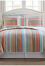 Beach Club Stripe Multicolored Full/Queen Quilt 86-in. x 86-in.