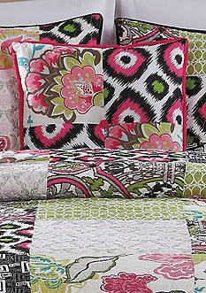 Retro Chic Gypsy Chic Jessa Square Decorative Pillow 18-in. X 18-in.