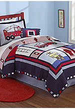 Fireman Twin Quilt Set 68-in. x 86-in.